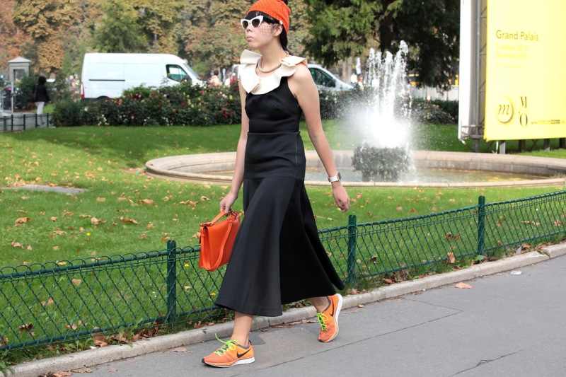 Street style at Paris Fashion Week spring/summer 2014  photo by Stefano Coletti