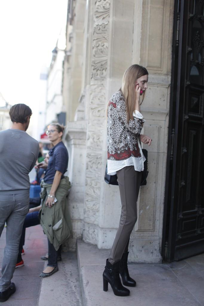 Street Style at Paris Fashion Week Spring/Summer 2014 photo by Kuba Dabrowski