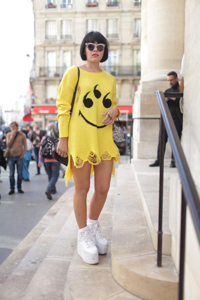 Street Style at Paris Fashion Week Spring:Summer 2014 photo by Kuba Dabrowski