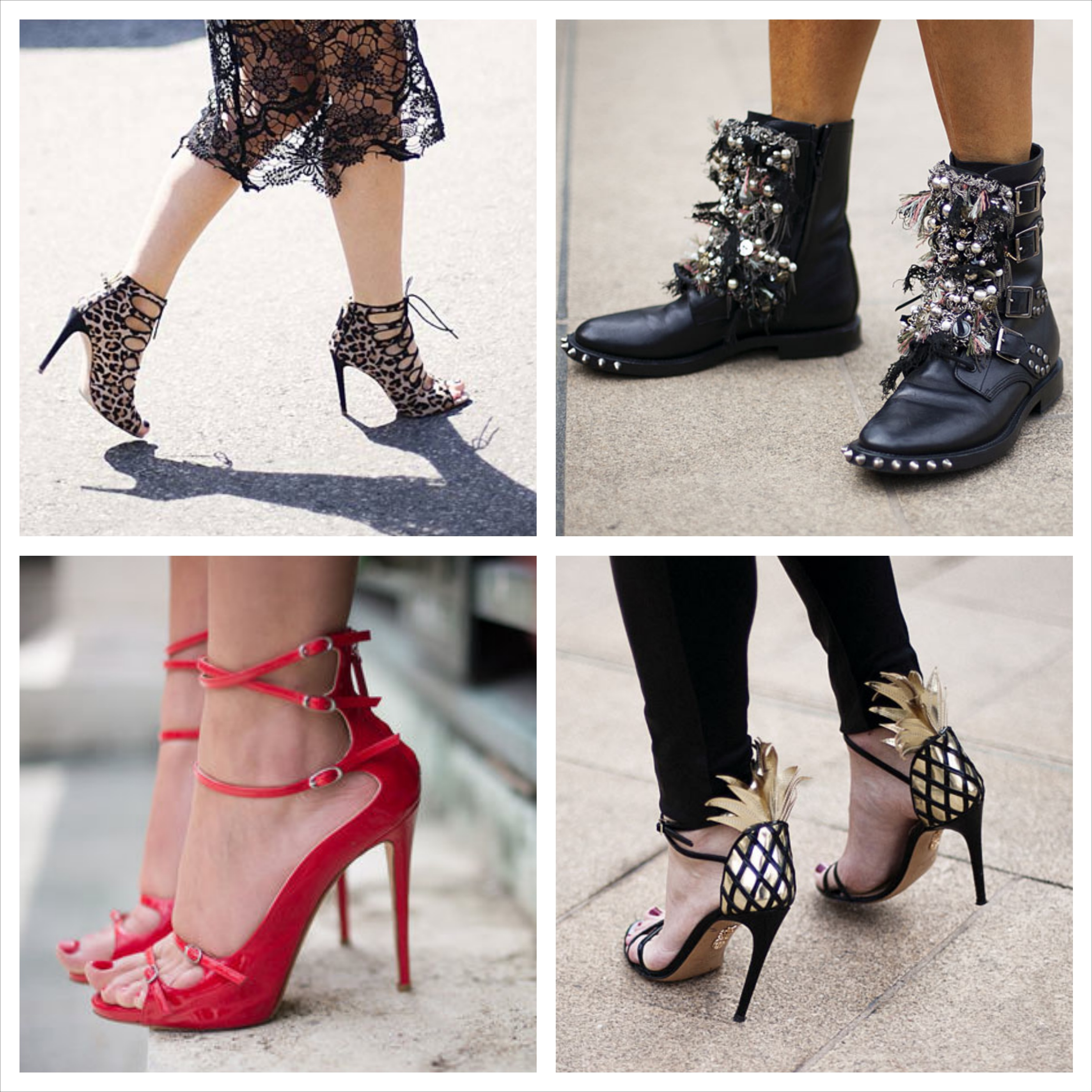 Sometimes the best part about getting dressed is what goes on your feet. So we're showing you a boatload of shoe options to choose from for spring Heels, sneakers, oxfords.