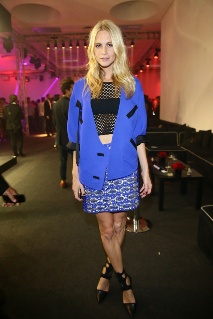 Poppy Delevingne attends the amfAR Milano 2013 Gala after party presented by Vionnet as part of Milan Fashion Week Womenswear Spring/Summer 2014