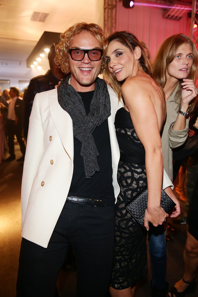 Clotilde Courau and Peter Dundas