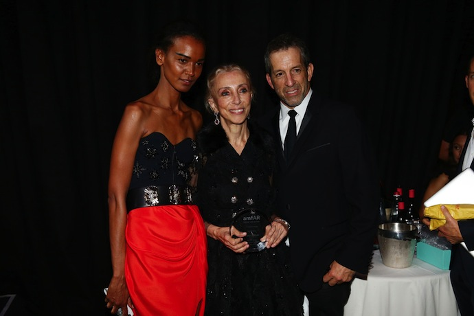 Liya Kebede , Franca Sozzani and Kenneth Cole