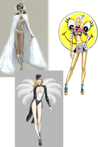 The first sketches for the Victoria's Secret Show 2013