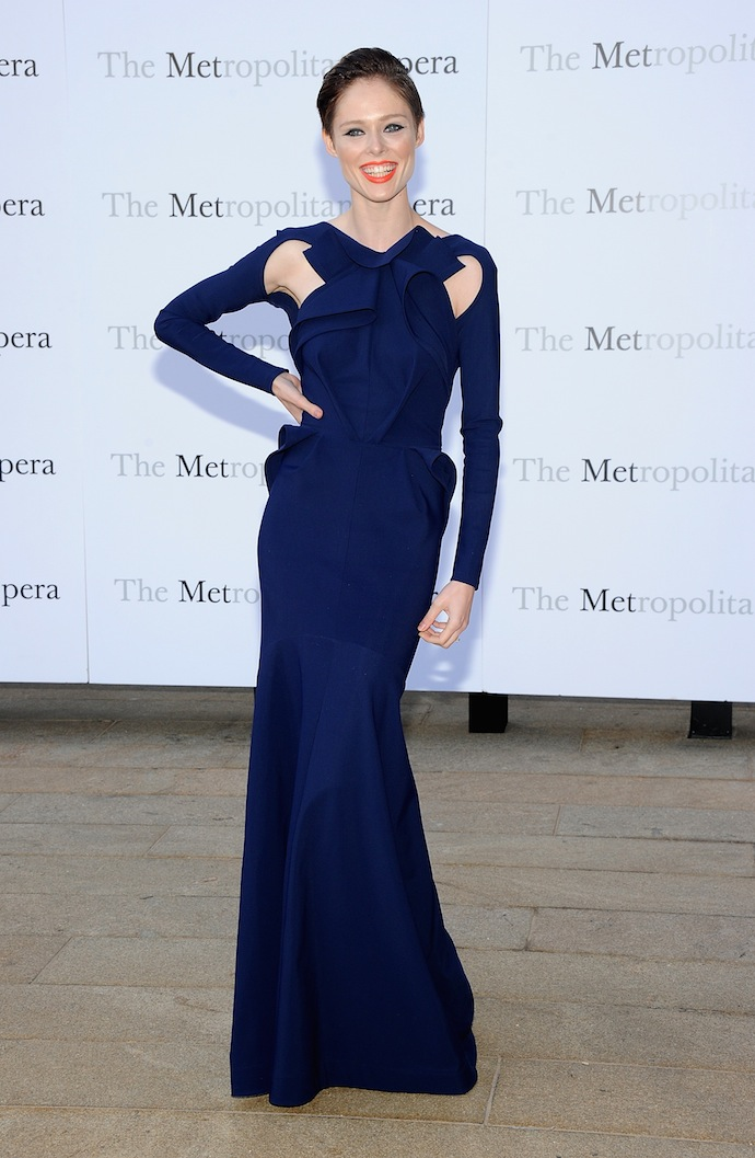 Model Coco Rocha also turned heads in her Greta Constantine gown