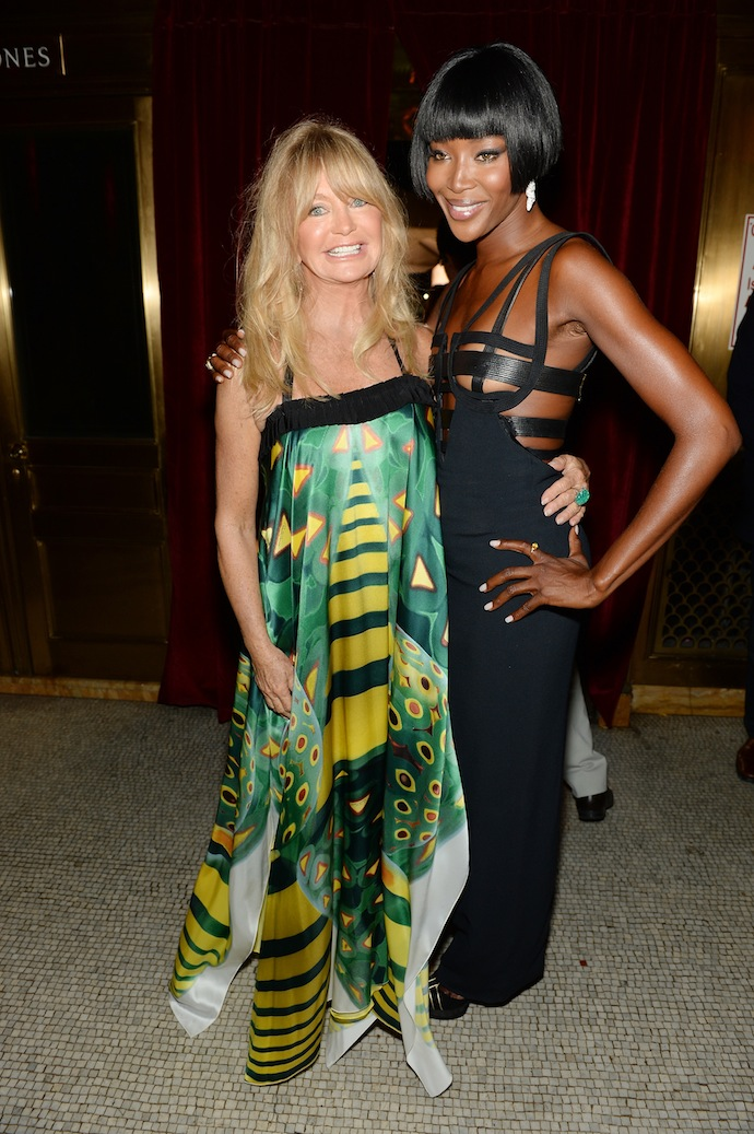 Goldie Hawn and Naomi Campbell