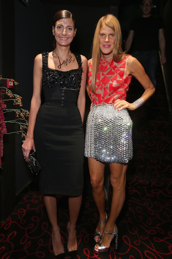 Giovanna Battaglia and Anna Dello Russo