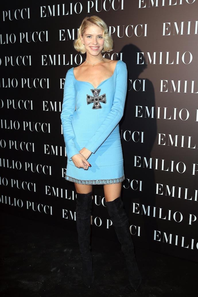 Elena Perminova in Emilio Pucci