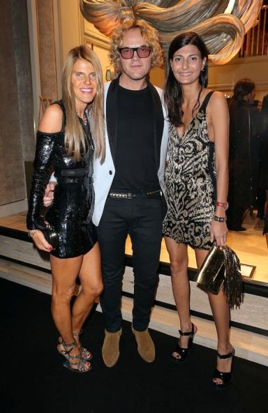 Vogue Nippon Editor-at-Large Anna Dello Russo, Designer Peter Dundas of Emilio Pucci & L'Uomo Vogue Giovanna Battaglia