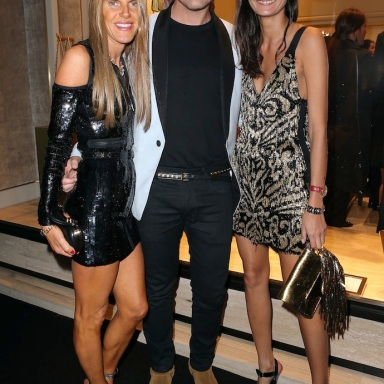 Vogue Nippon Editor-at-Large Anna Dello Russo, Designer Peter Dundas of Emilio Pucci & L'Uomo Vogue Giovanna Battaglia