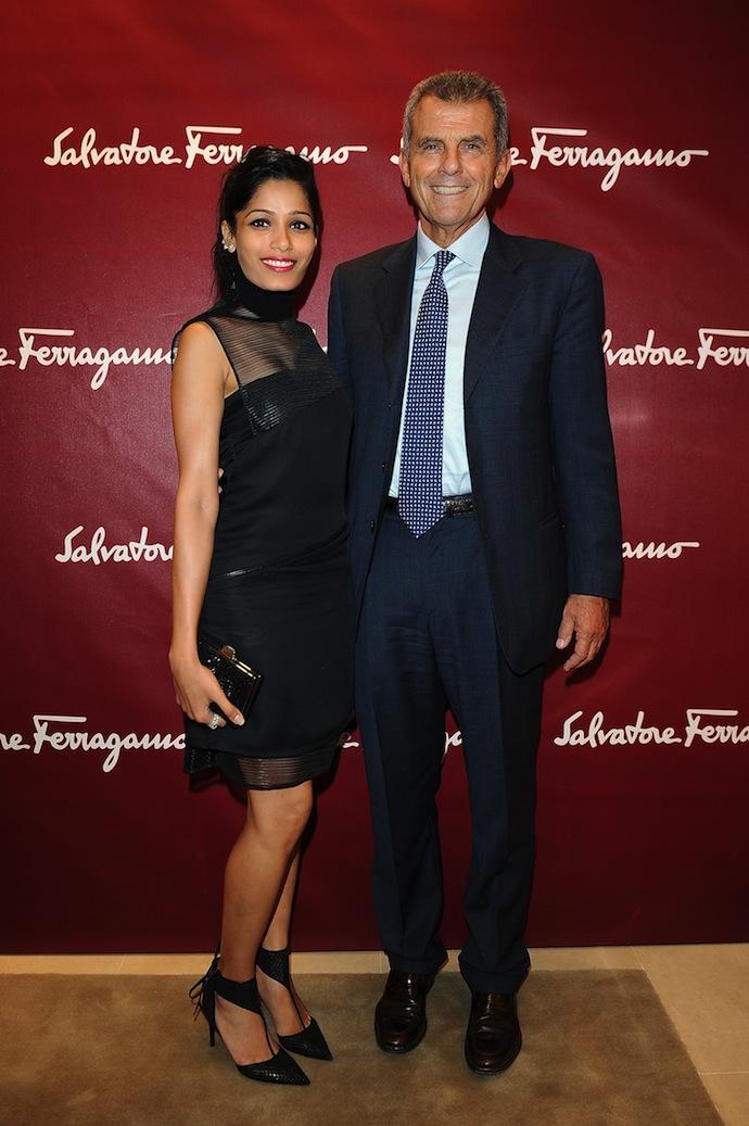 Freida Pinto and Ferruccio Ferragamo
