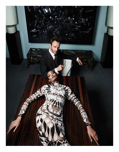 Tom Ford and Joan Smalls by Sølve Sundsbø for WSJ Magazine September 2013