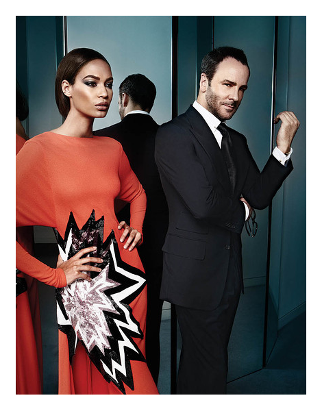 Tom Ford and Joan Smalls by Sølve Sundsbø for WSJ Magazine September 2013