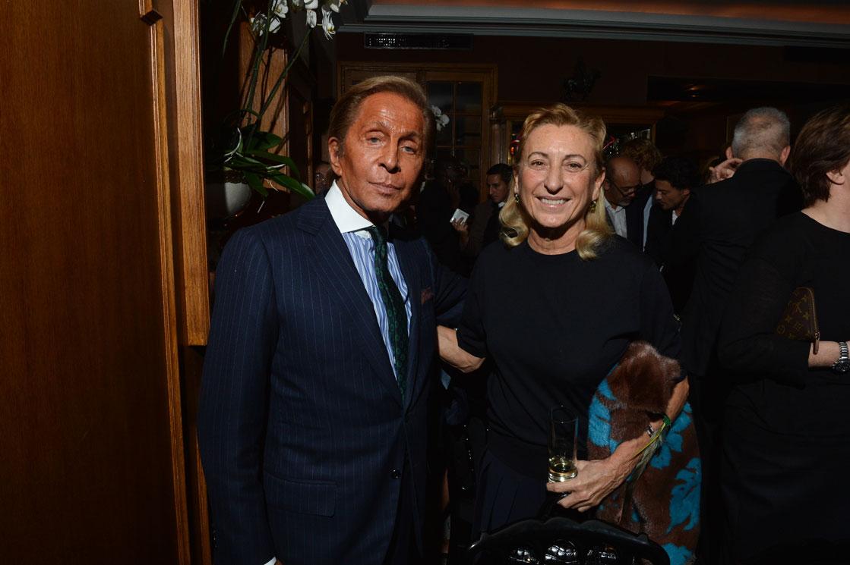 Valentino Garavani and Miuccia Prada