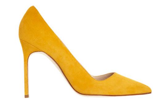 Yellow calfskin BB heels, Manolo Blahnik, €450