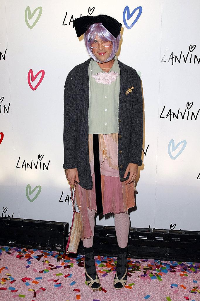 Brad Goreski As Tavi Gevinson at the Lanvin Halloween Extravaganza in New York in 2010