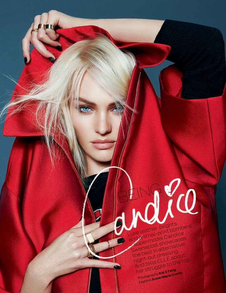 Candice Swanepoel by Kai Z Feng for ELLE UK December 2013