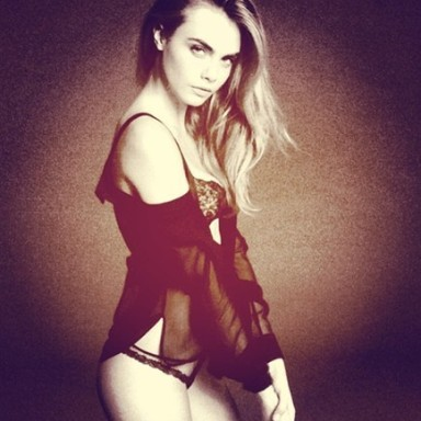 Cara Delevigne by Mert Alas and Marcus Piggott for La Perla