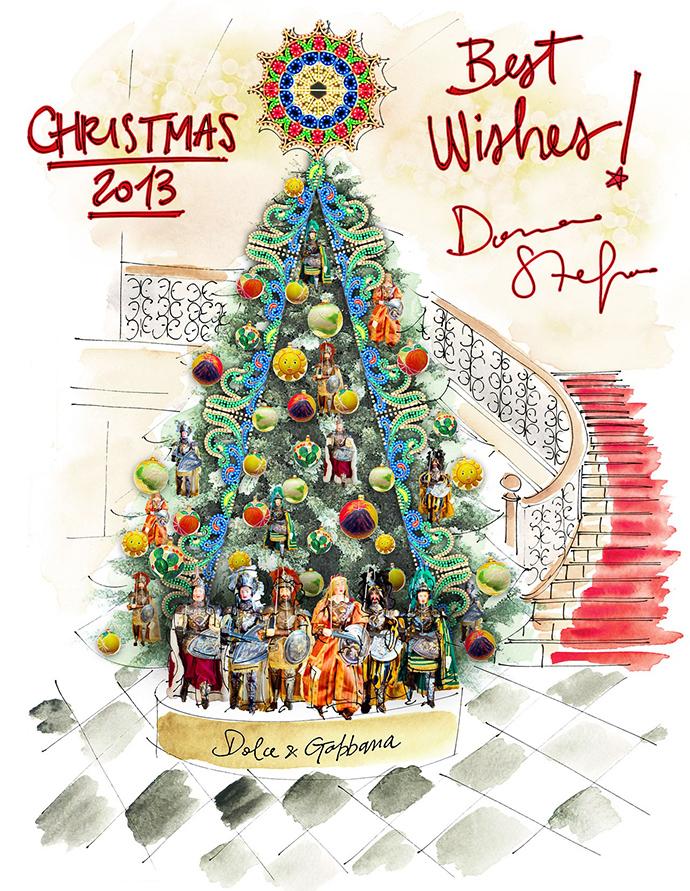 Christmas Tree 2013 by  Dolce & Gabbana for Claridge's London