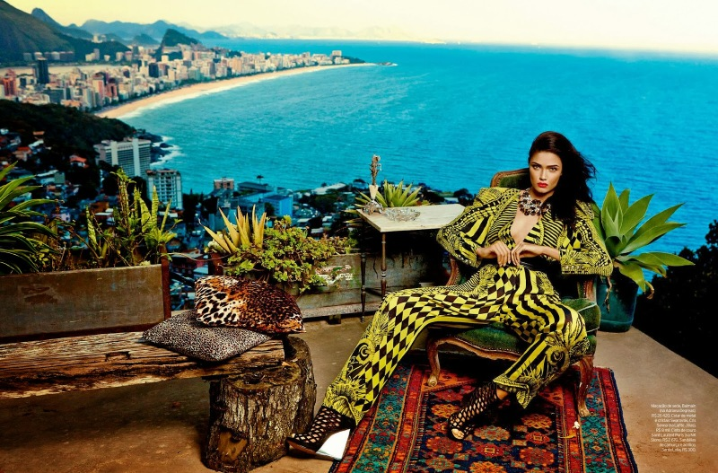 Daniela Braga by Fabio Bartelt for ELLE Brazil October 2013