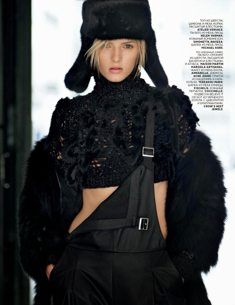 Daria Strokous by Patrick Demarchelier for Vogue Russia November 2013