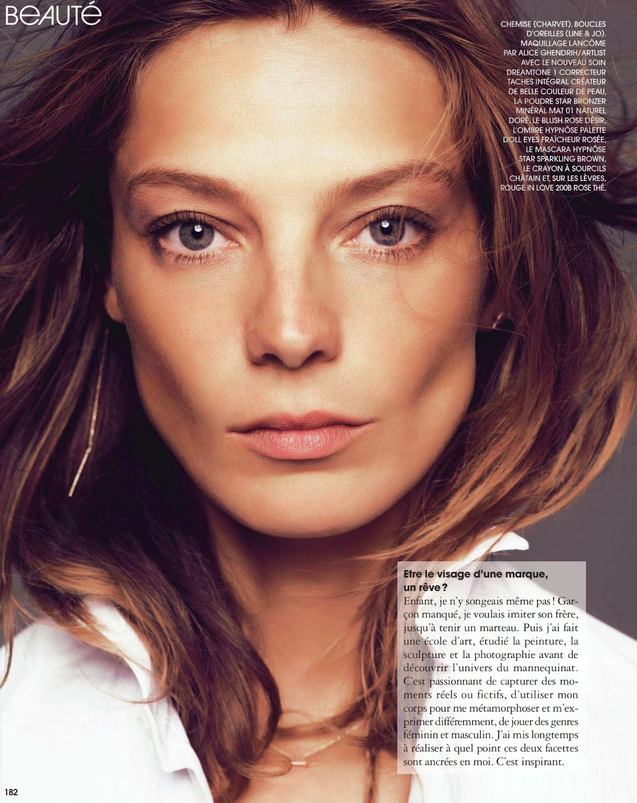 Daria Werbowy by Nico for MARIE CLAIRE France November 2013