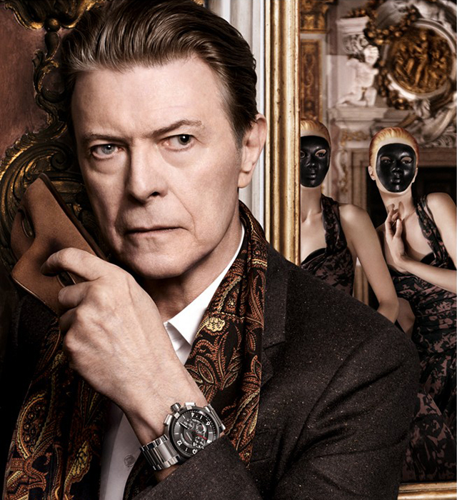 David Bowie in the Louis Vuitton campaign shot by David Sims.