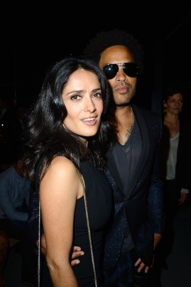 Salma Hayek and Lenny Kravitz
