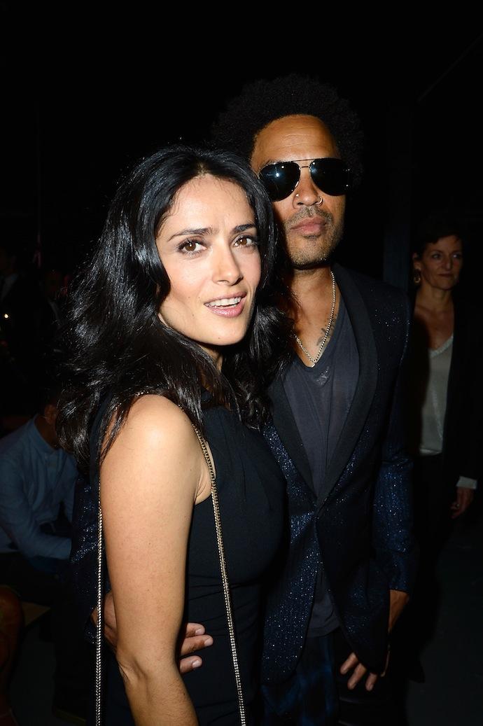 Salma Hayek and Lenny Kravitz