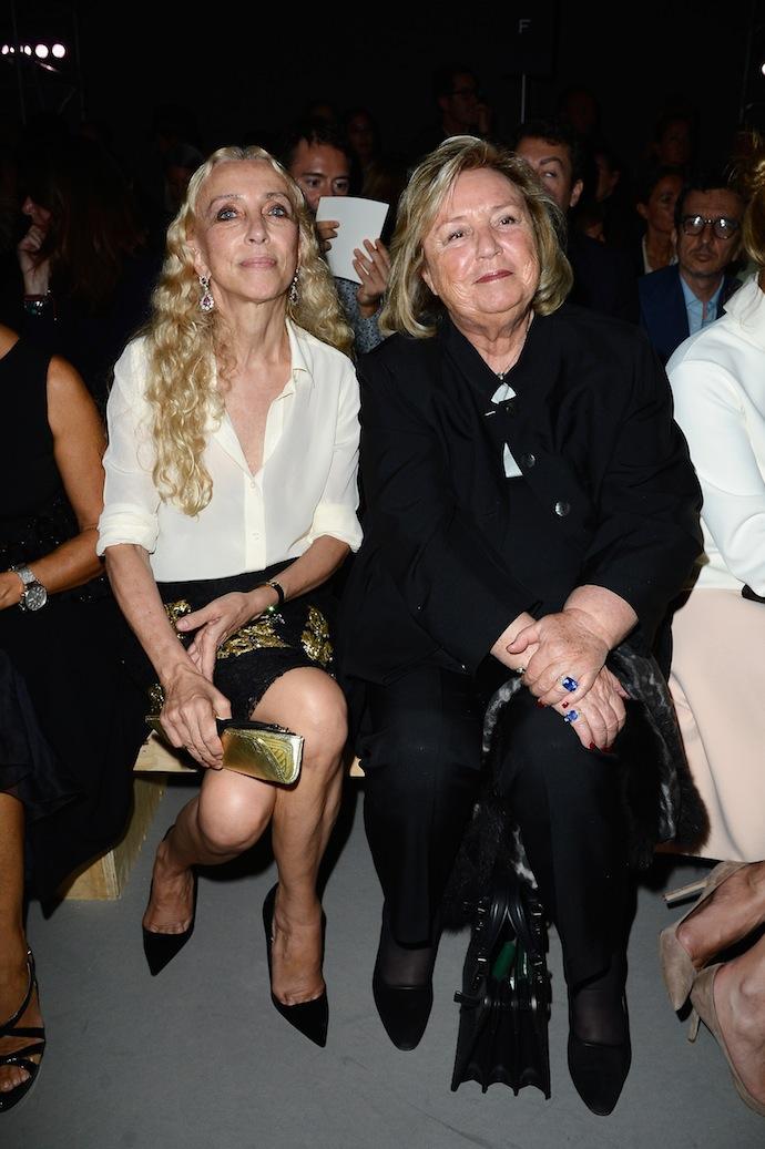 Franca Sozzani and Maryvonne Pinault