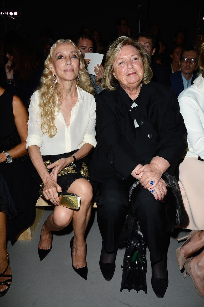 Franca Sozzani and Maryvonne Pinault