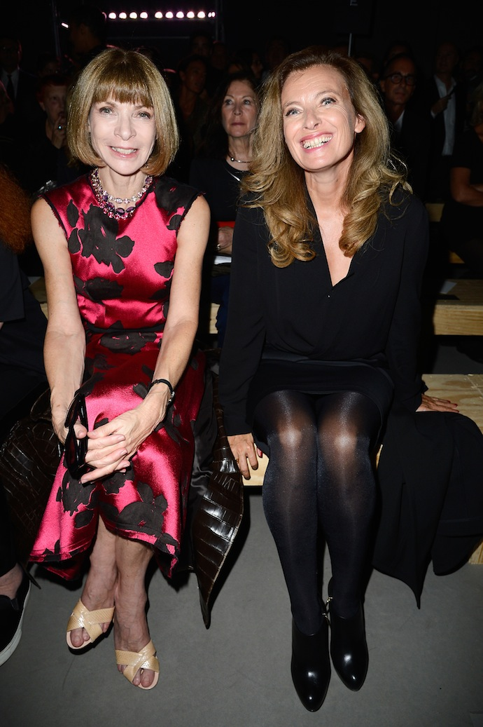 Anna Wintour, French First Lady Valerie Trierweiler