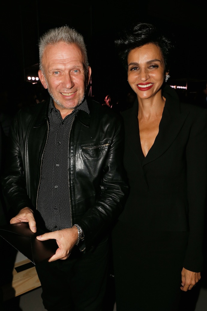 Jean Paul Gaultier and Farida Khelfa