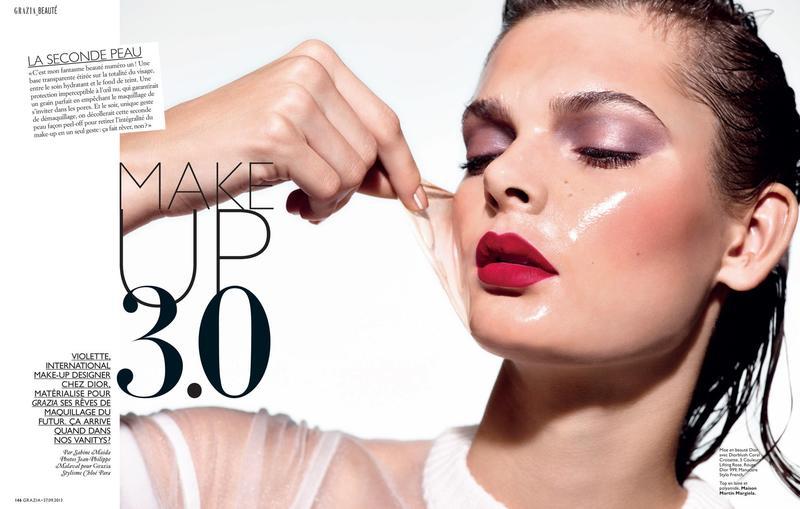 Grazia France October 2013 : Make Up 3.0