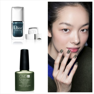 Green Nails : the must color for fall 2013