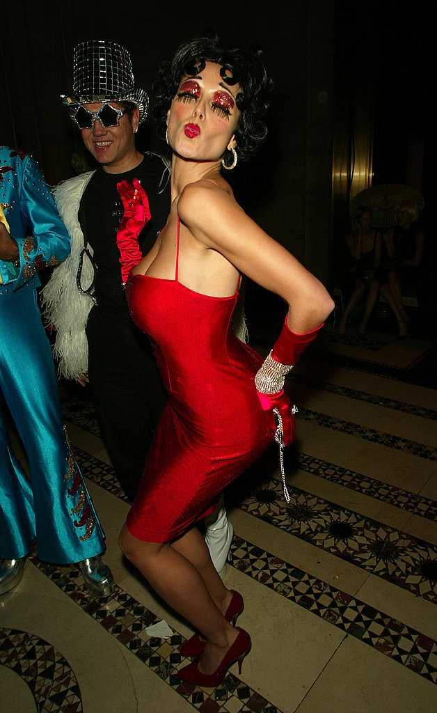Heidi Klum As Betty Boop at Dolce & Gabbana's Halloween party in New York in 2002.