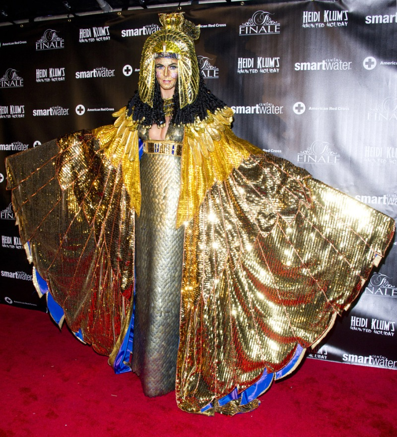 Heidi Klum, dressed as Cleopatra, attends her Haunted Holiday Party benefiting Superstorm Sandy relief efforts, on Saturday, Dec. 1, 2012 in New York. Klum's original party, scheduled to be held on Halloween, was postponed due to the storm.