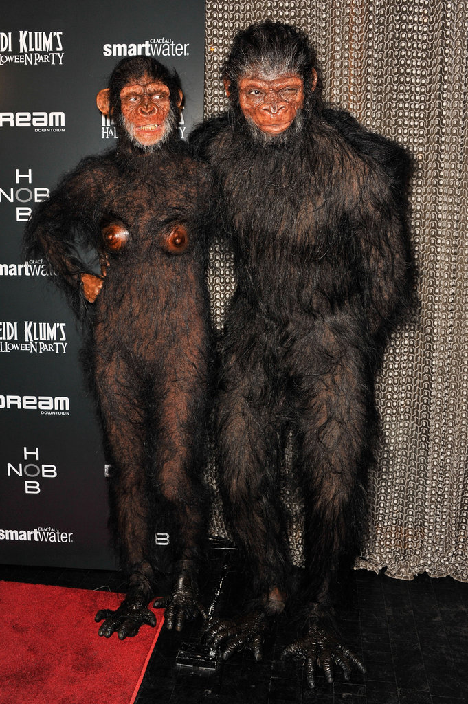 Heidi Klum, Seal At their annual Halloween party in New York in 2011.