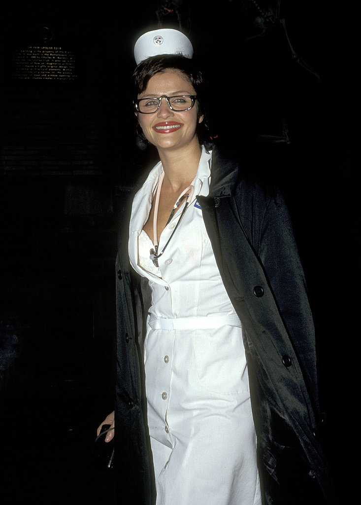 Helena Christensen At the Madison Club Halloween party in New York in 1996.