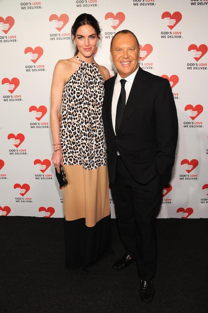 Hilary Rhoda and Michael Kors