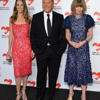Hilary Swank, Michael Kors and Anna Wintour