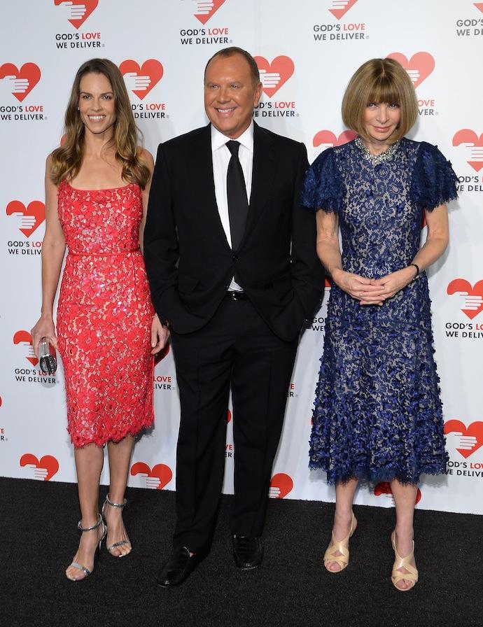 Hilary Swank, Michael Kors and Anna Wintour