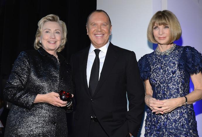 Hillary Clinton , Michael Kors and Anna Wintour