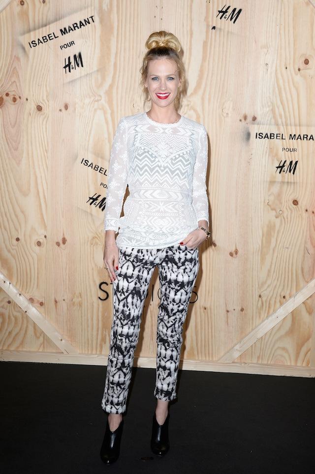 January Jones wearing Isabel Marant pour HM