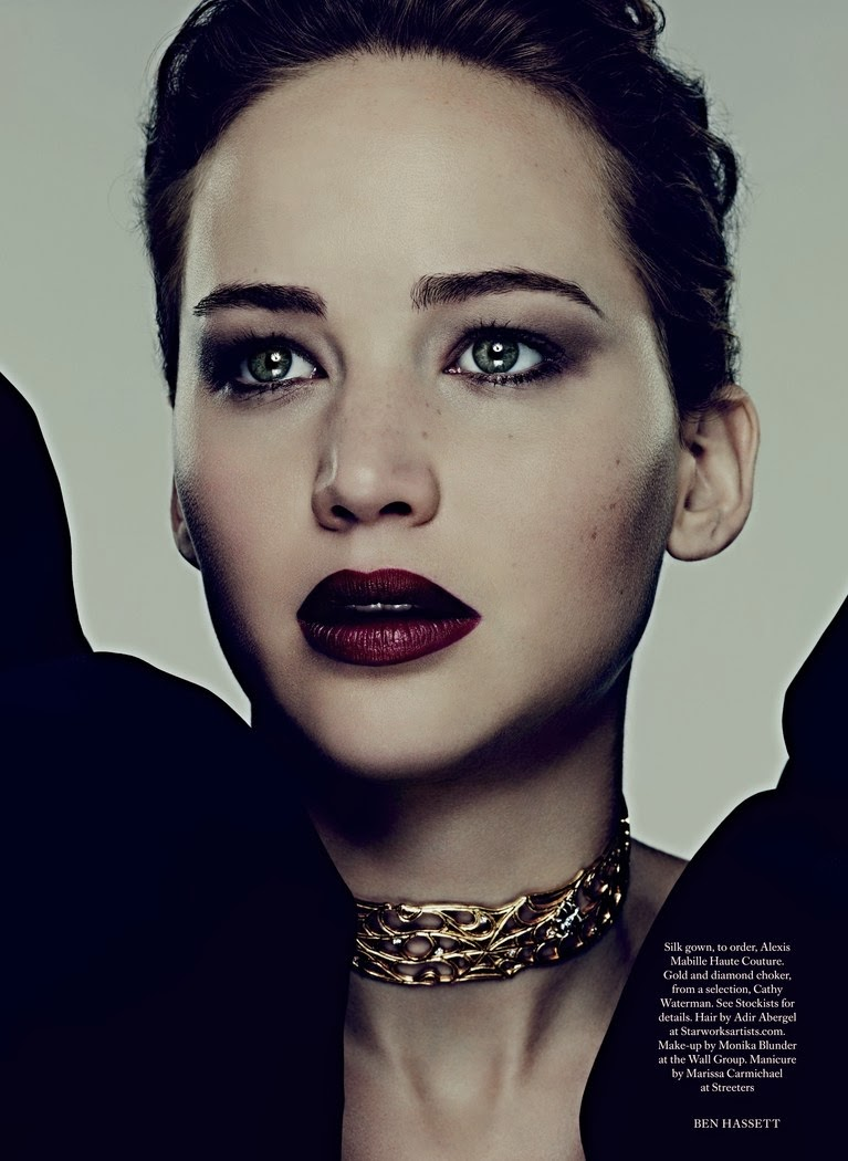Jennifer Lawrence by Ben Hassett for Harper's Bazaar UK November 2013