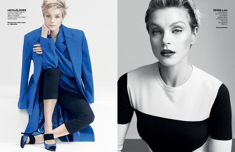 Jessica Stam by Chad Pitman for Vogue Ukraine November 2013