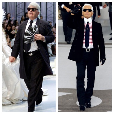 Karl Lagerfeld before and after diet