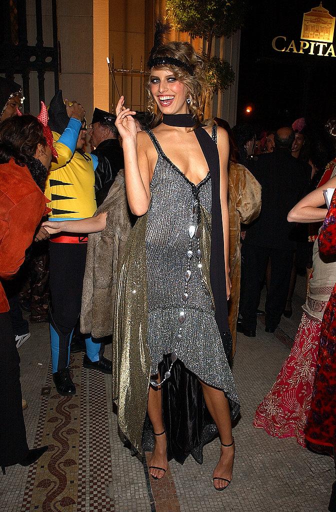 Karolina Kurkova At Heidi Klum's annual Halloween bash in New york in 2002.
