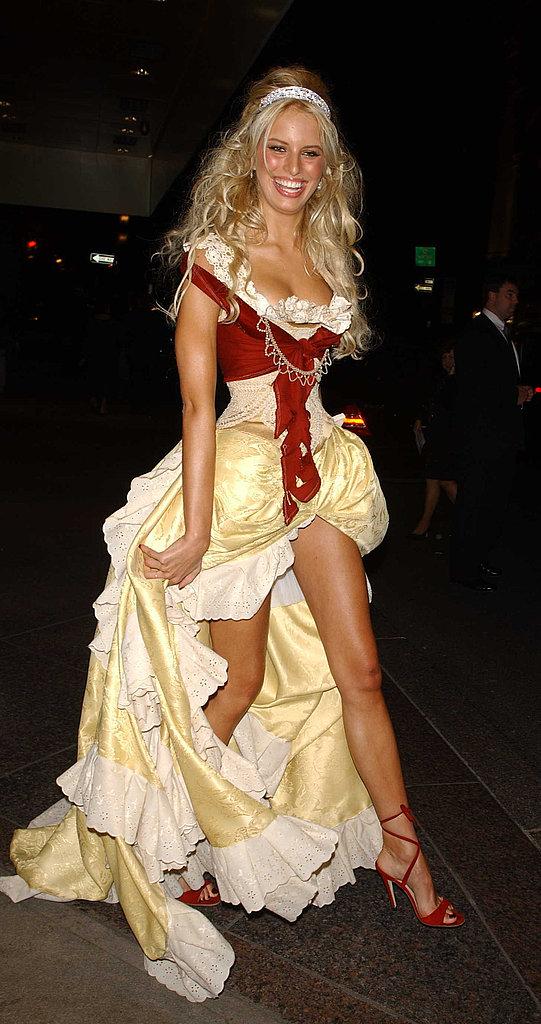 Karolina Kurkova At the Mahalloween Party in New York in 2003