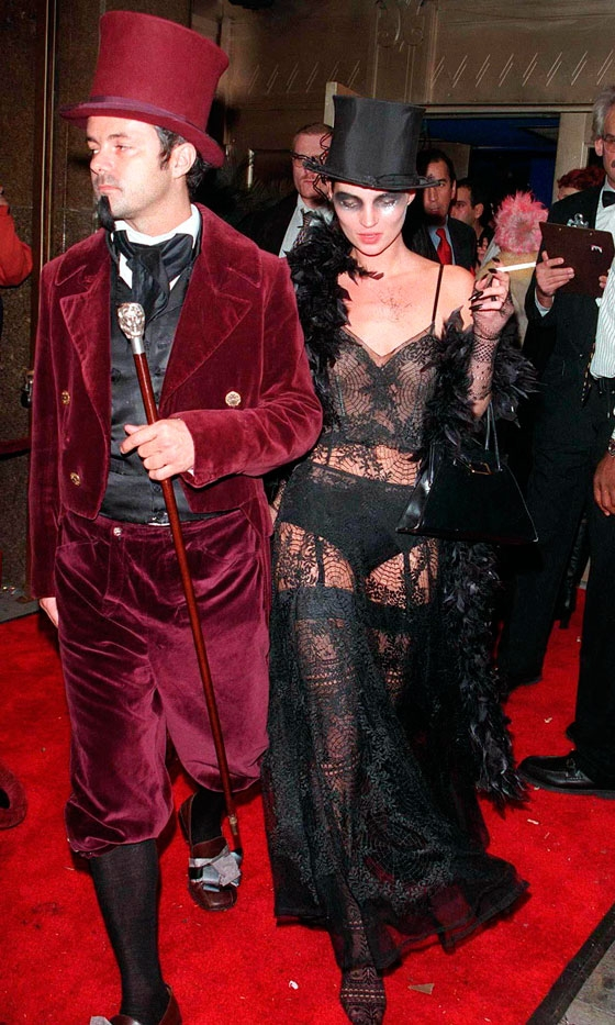 Kate Moss At The Supper Clubs Halloween Party In New York In 1997
